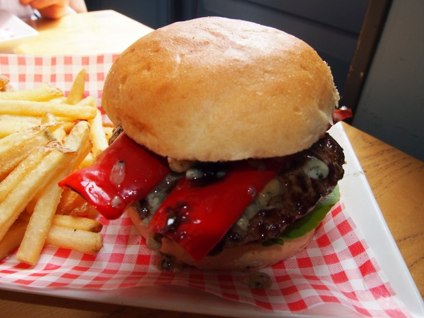 Meat and Barrel burger closeup