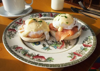 Jam and Bowler Eggs Benedict