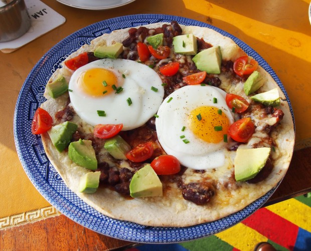 Jam and Bowler Huevos Rancheros