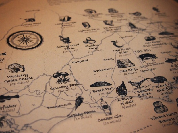 The Pig Brockenhurst Menu Map